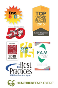 Top Places to work logos