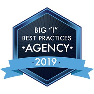"Big ""I"" Best Practices Agency 2019 Award Logo"