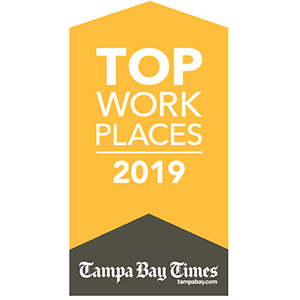 Tampa Bay Times Top Work Places 2019 Award
