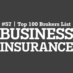 Business Insurance Award #57 Top 100 Brokers List
