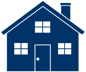 Navy House with doors and windows