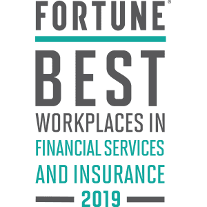 Fortune Best Worokplaces in Financial Services and Insurance 2019